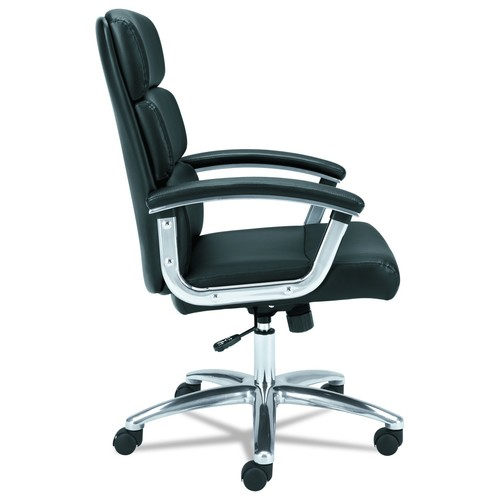 basyx by HON Executive Task Chair - Mid Back Leather Computer Chair for Office Desk, Black (VL103)