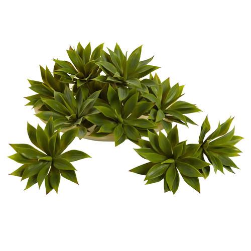 nearly natural Mini Agave Succulent Arrangement