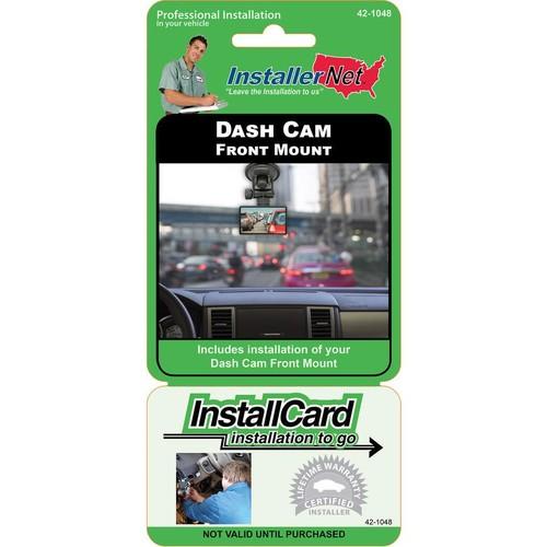 InstallCard: Front-mounted Dash Cam Prepaid professional dash cam installation