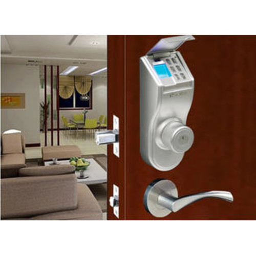 iTouchless Fingerprint Silver Finished Right handled Deadbolt Lock