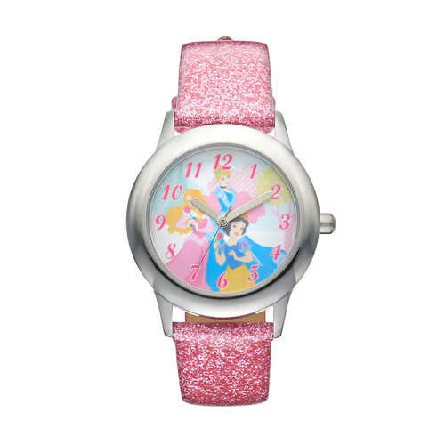Disney Princess Juniors' Cinderella, Aurora & Snow White Leather Watch