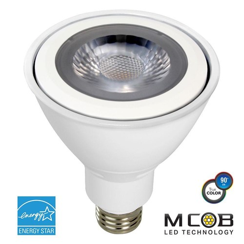 Euri Lighting 75W Equivalent Warm White (2700K) PAR30 Long Neck Dimmable MCOB LED Flood Light Bulb