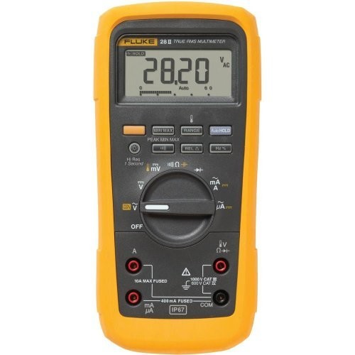 Fluke 28 II True-RMS Rugged IP 67 Industrial Digital Multimeter [Standard]