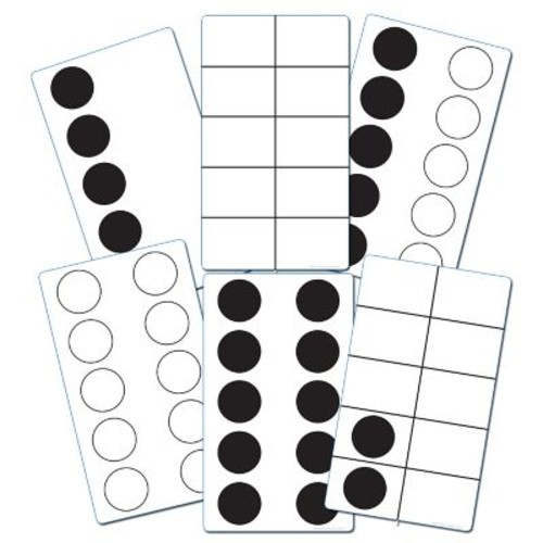 Essential Learning Products Ten Frame Activity Cards, 4 3/4