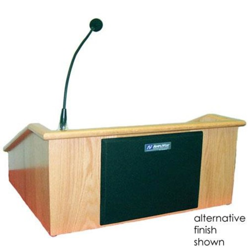 Wireless Victoria Tabletop Lectern Wireless Mic Option: Headset Mic, Finish: Mahogany