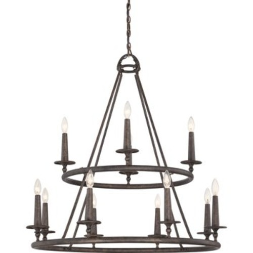 Voyager 12 Light Chandelier by Quoizel