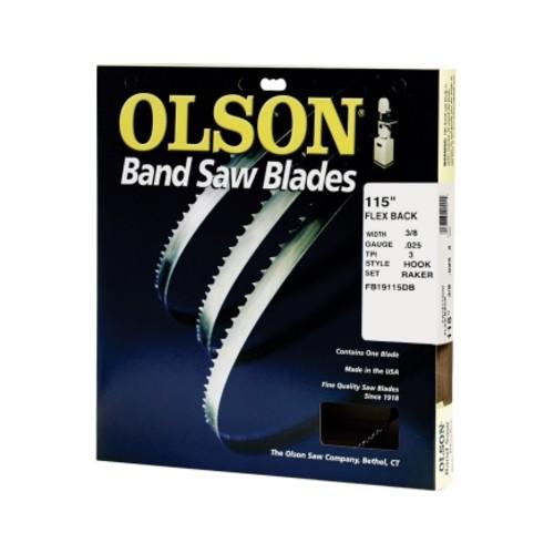 Olson Flex Back 115 in. L x 3/8 in. W Band Saw Blade 3 TPI