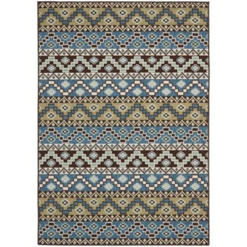 Safavieh Veranda Blue/Creme 7 ft. x 10 ft. Indoor/Outdoor Area Rug
