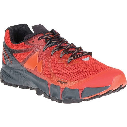 MERRELL Men's Agility Peak Flex Trail Running Shoes, Merrell Orange