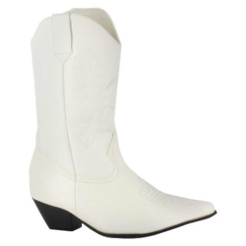 Halloween Girls' Rodeo Boots White