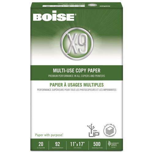 Boise CASOX9007 X-9 Multi-Use Copy Paper, 92 Bright, 20lb, 11 x 17, White, 2500 Sheets/Carton