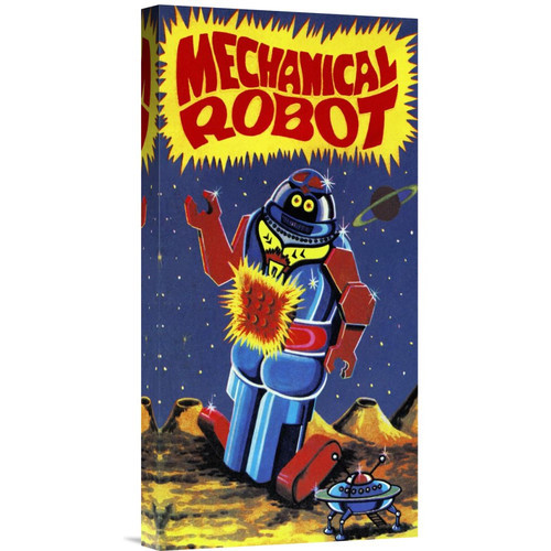 'Mechanical Robot' by Retrobot Vintage Advertisement on Wrapped Canvas