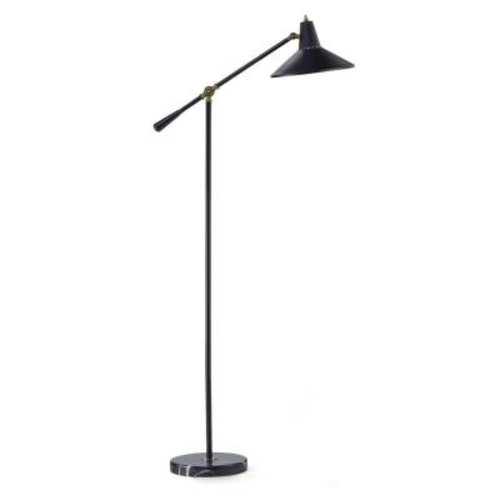Adesso Nelson 59 in. Black Adjustable Floor Lamp