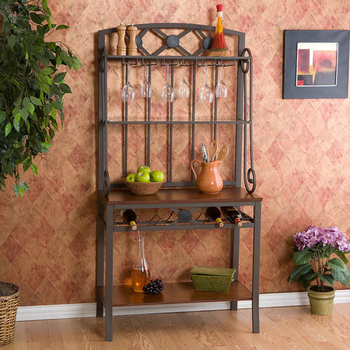 Southern Enterprises Brown Baker's Rack