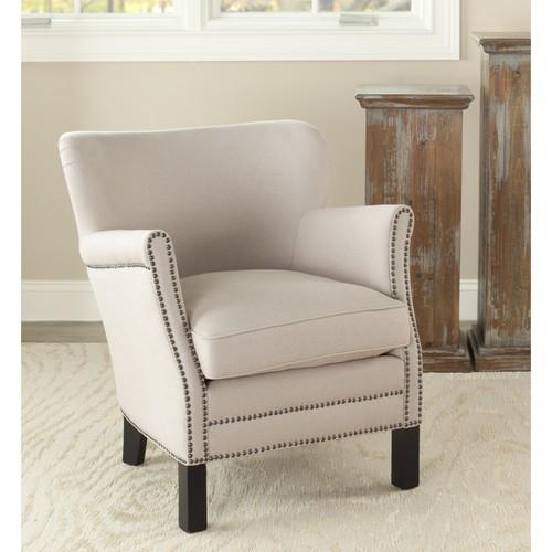 Safavieh Jenny Arm Chair W/ Brass Nail Heads