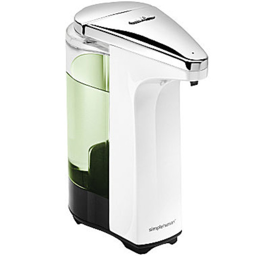 simplehuman 8 Ounce White Sensor Pump Soap Dispenser