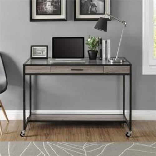 Ameriwood Home Altra Furniture Mason Ridge Mobile Computer Desk in Sonoma Oak and Black