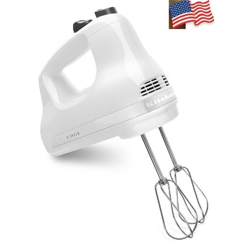 KitchenAid KHM512WH 5-Speed Ultra Power Hand Mixer, White [White]