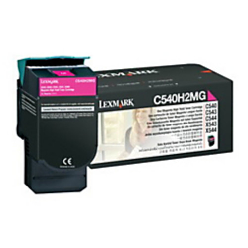 Lexmark C540H2MG High-Yield Magenta Toner Cartridge