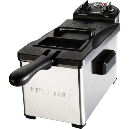 Chefman - 3 Liter Deep Fryer - Stainless Steel