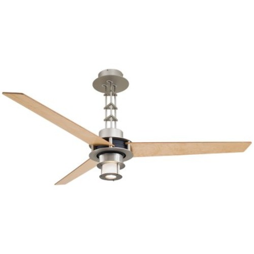 Minka Aire F529-L-BS/CH One Light Brushed Steel/Chrome Ceiling Fan [Brushed Steel/Chrome]