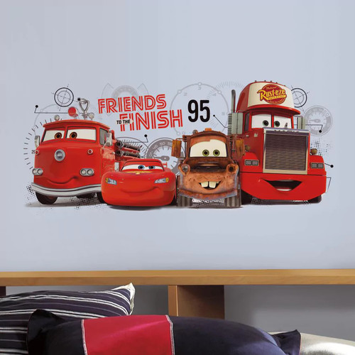 Disney / Pixar Cars 2 Friends to the Finish Peel & Stick Wall Decals