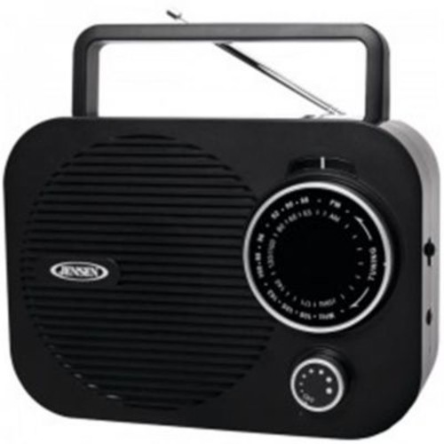 Jensen Portable AM/FM Radio with Auxillary Input OCI9732, Black