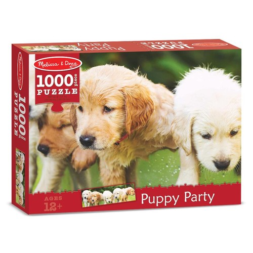 Melissa & Doug Puppy Party Cardboard Jigsaw Puzzle - 1000 piece