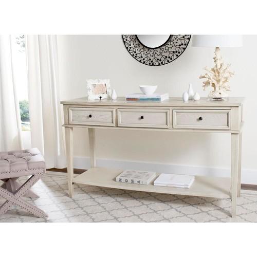 Safavieh Manelin White Washed Storage Console Table