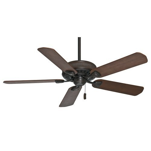 Casablanca 54001 Ainsworth 54-Inch Ceiling Fan with Five Distressed Walnut/Dark Walnut Blades, Brushed Cocoa [Cocoa, 54-inch]