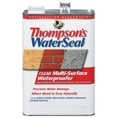 Thompsons Water Seal 24101 WaterSeal Multi-Surface Waterproofer, 1-Gallon, Clear