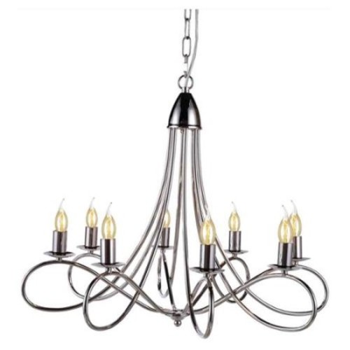8-Light Pendant Lamp in Polished Nickel Finish