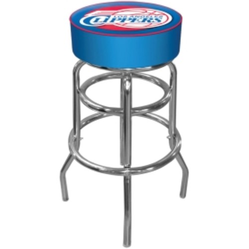 Trademark Games Los Angeles Clippers Padded Bar Stool