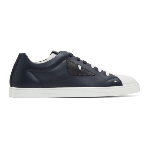 FENDI Navy & White 'Bag Bugs' Sneakers