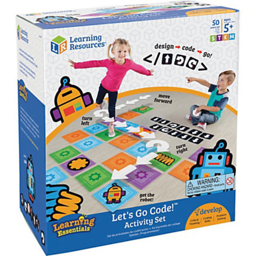 Learning Resources Ages 5+ Let's Go Code Activity Set - Theme/Subject: Fun - Skill Learning: Gross Motor, Visual, Critical Thinking, Sequential Thinking, Problem Solving, Direction - 50 Pieces - 5+