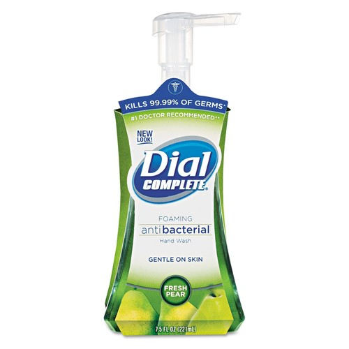 Dial Professional Antimicrobial Foaming Hand Soap, Fresh Pear, 7.5oz Pump Bottle | PJP Marketplace