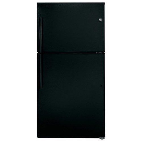 GE 21.2 cu. ft. Top Freezer Refrigerator in Black