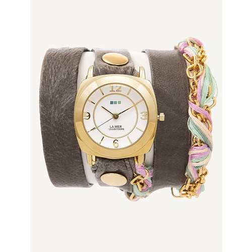 Pastel Friendship Bracelet Wrap Watch