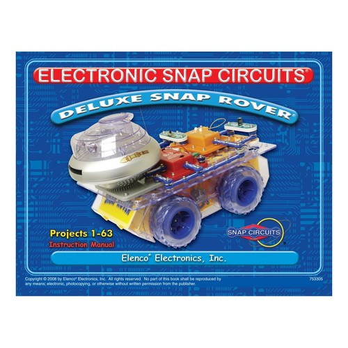 Snap Circuits Deluxe R/C Snap Rover Electronics Discovery Kit
