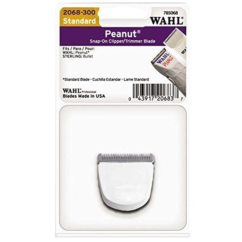 Wahl Professional Peanut Snap On Clipper/Trimmer Blade (White) #2068-300  For Wahl Peanuts (White)