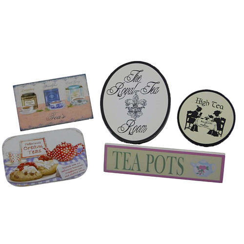 The Queen's Treasures Tea Room Signs Accessory Set for 18 inch Doll