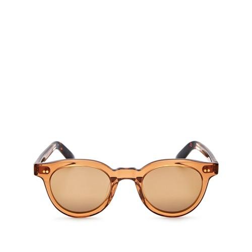 Fin Mirrored Round Sunglasses, 47mm