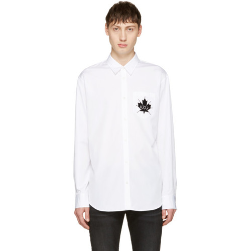 DSQUARED2 White Canada Hiking Shirt