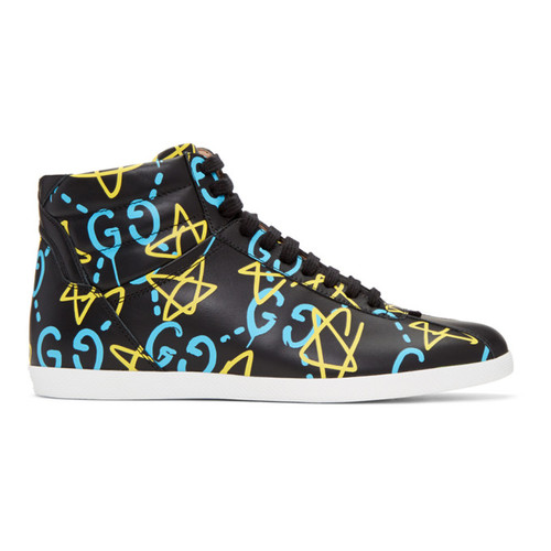 GUCCI Black Ghost High-Top Sneakers