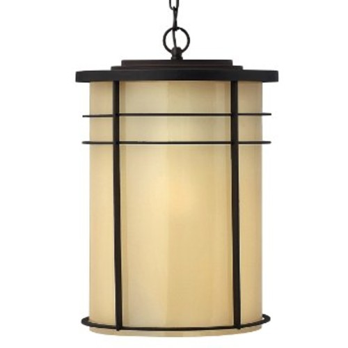 Ledgewood Outdoor Pendant [Light Option : Incandescent; Finish : Museum Bronze with Champagne Inside-Etched]
