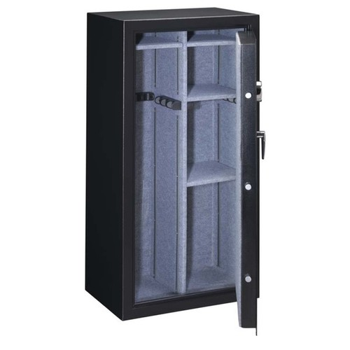 Stack-On Matte Black 22-Gun Fully Convertible Cabinet With Electronic Lock