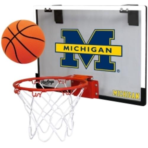Rawlings Michigan Wolverines Game On Backboard Hoop Set