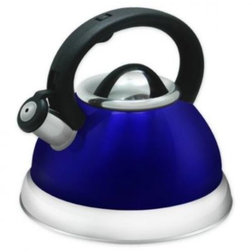 Imperial Home 3 Qt. Stainless Steel Whistling Tea Kettle; Blue