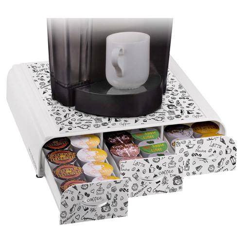 Mind Reader - Anchor Coffee Pod Drawer - White/Black