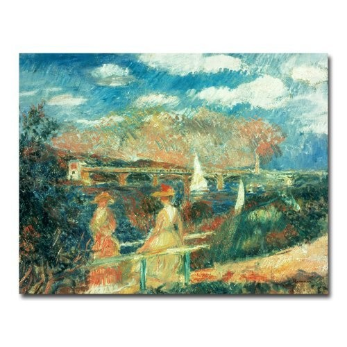 Trademark Fine Art Banks of the Seine at Argenteuil by Pierre Renoir Canvas Wall Art, 26x32-Inch [26 by 32-Inch]